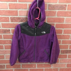 The North Face Purple Hooded Full Zip Girls M